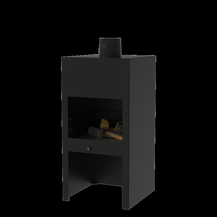 Tuinhaard Stig Coating black 50 x 50 x 100 cm