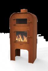 Tuinhaard GAP 55 x 50 x 120cm met deur en pizza oven