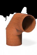 Cortenstaal bocht voor tuinhaard 90° - 154x200mm