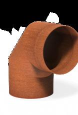 Cortenstaal bocht voor tuinhaard 90° - 204x200mm