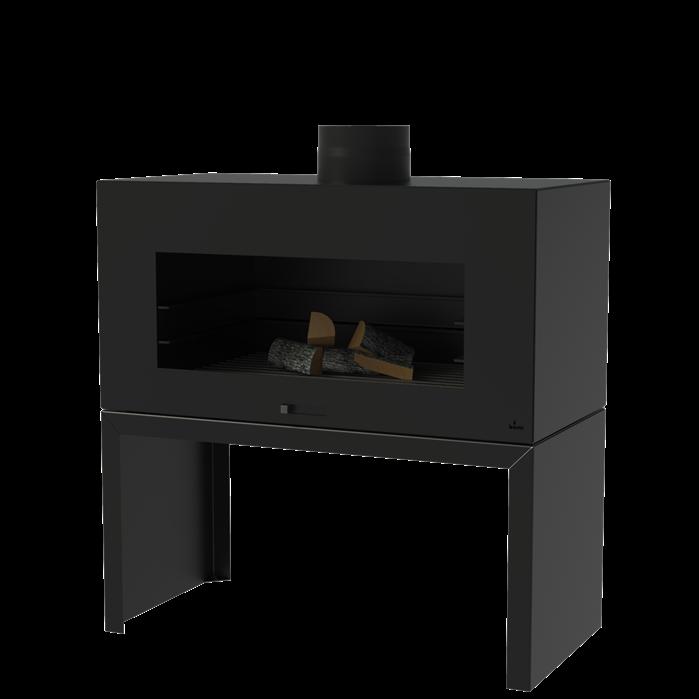 Tuinhaard Enok staand coating black 100 x 50 x 100 cm