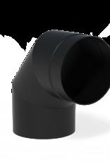 Coating black bocht voor tuinhaard 90° - 204x200mm