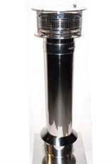 Dakdoorvoer RVS 150x150x1100mm - compleet set
