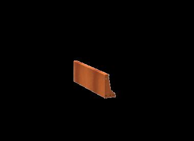 Keerwand Cortenstaal 30 cm hoog