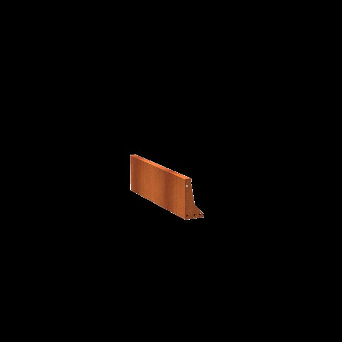 Pottenland Keerwand cortenstaal recht 100 x 30 cm