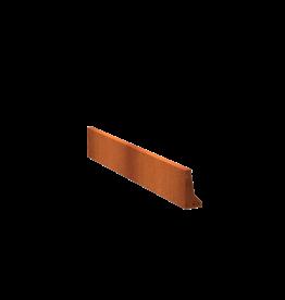 Pottenland Keerwand cortenstaal recht 200 x 30 cm