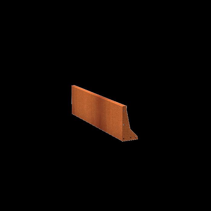 Pottenland Keerwand cortenstaal recht 150 x 40 cm