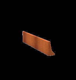 Pottenland Keerwand cortenstaal recht 200 x 40 cm