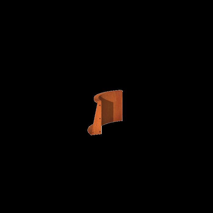 Pottenland Keerwand cortenstaal binnenbocht 50 x 50 x 40 cm