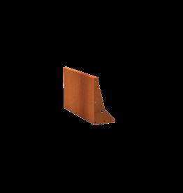 Pottenland Keerwand cortenstaal recht 100 x 60cm