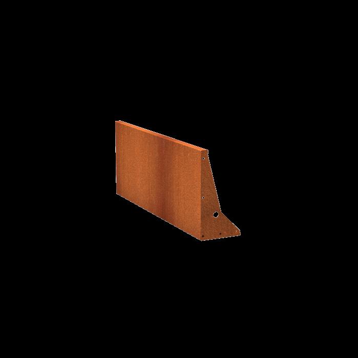 Pottenland Keerwand cortenstaal recht 150 x 60cm