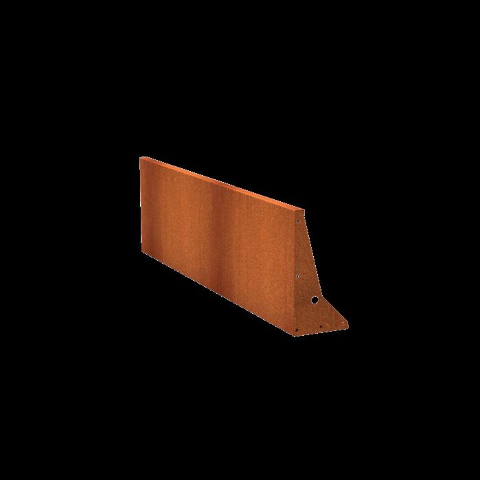Pottenland Keerwand cortenstaal recht 200 x 60cm