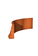 Pottenland Keerwand cortenstaal binnenbocht 150 x 150 x 60 cm