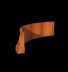 Pottenland Keerwand cortenstaal binnenbocht 200 x 200 x 60 cm