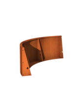 Pottenland Keerwand cortenstaal buitenbocht 150 x 150 x 60 cm