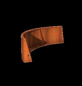 Pottenland Keerwand cortenstaal buitenbocht 200 x 200 x 60 cm