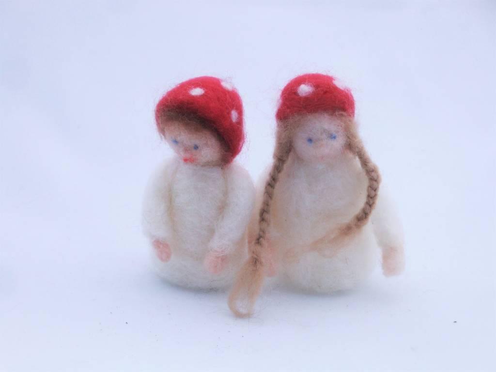 De Wolshoop Paddestoelkinderen wit
