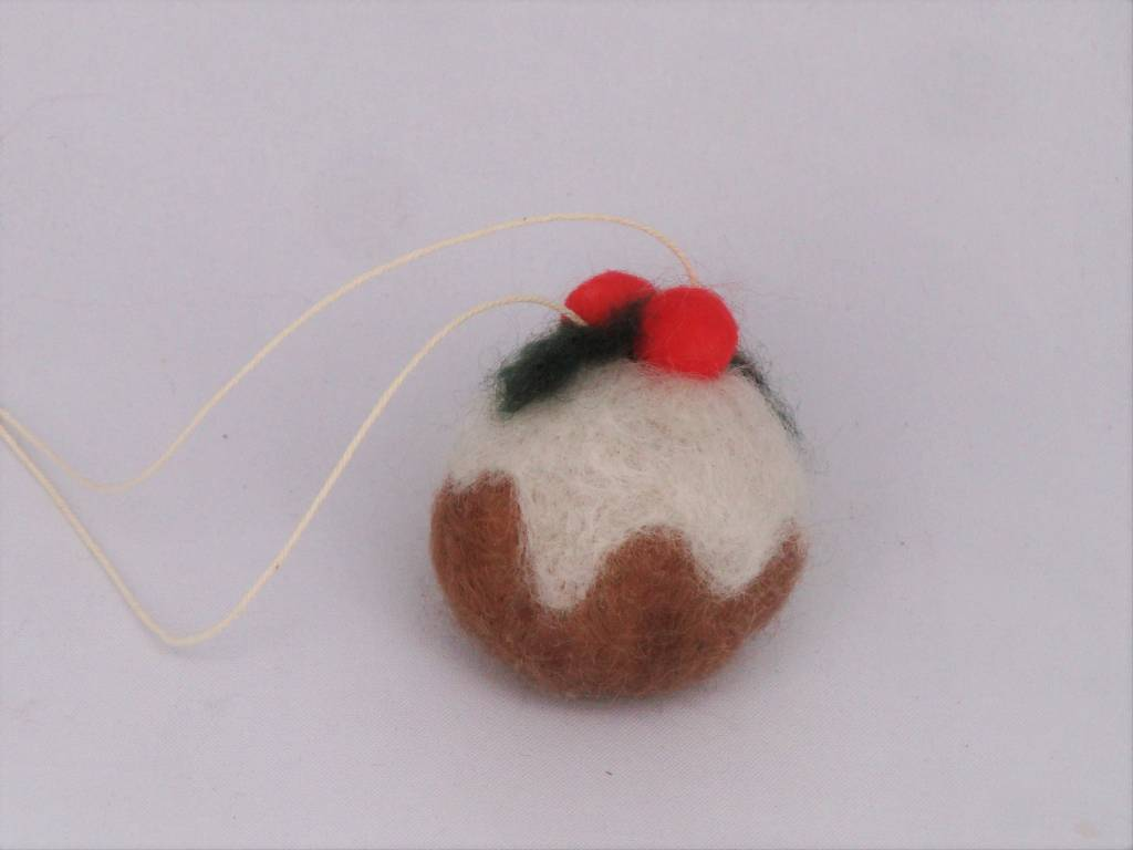 De Wolshoop Kerstbal mini bruin