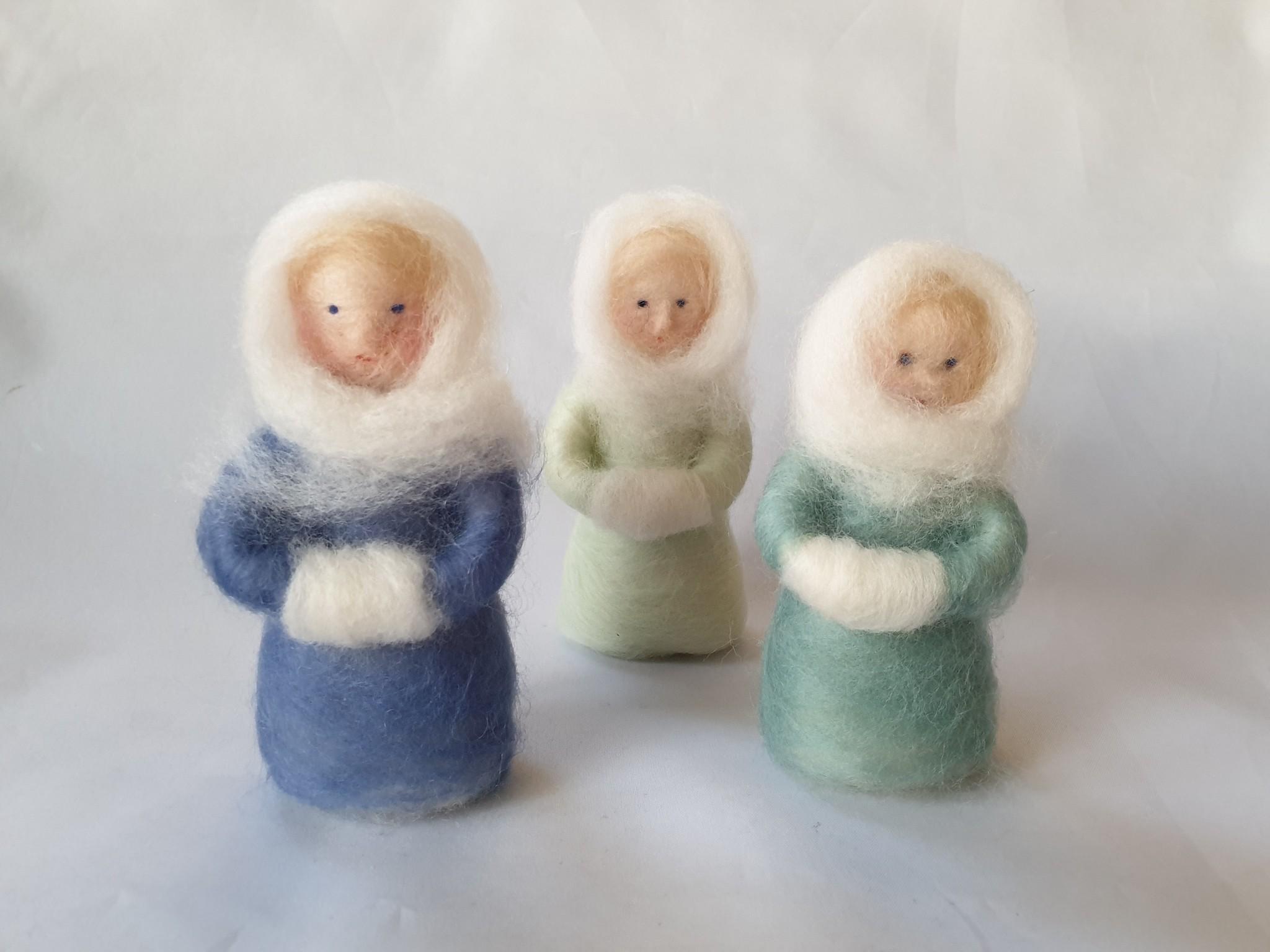 De Wolshoop Wintervrouwtjes set van 3