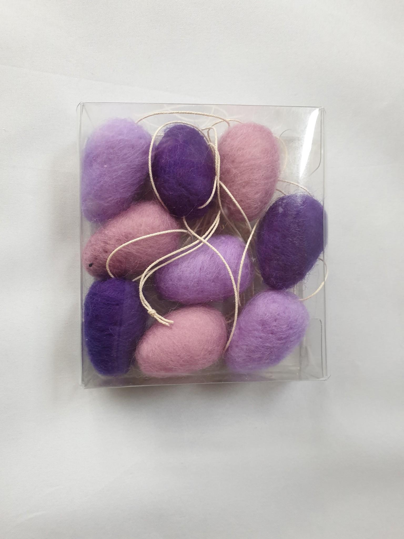 De Wolshoop Paaseitjes kleurenset paars/lila