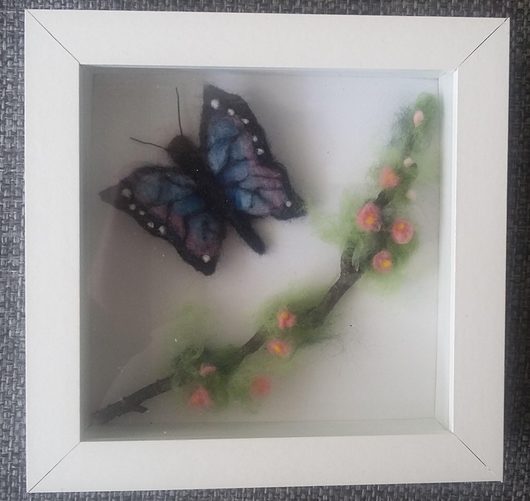 De Wolshoop Vlinder in lijstje