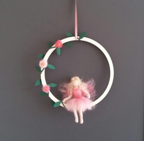De Wolshoop Hanger Lente Elfje pink
