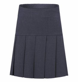 Grey Stretch Full Pleat Skirt