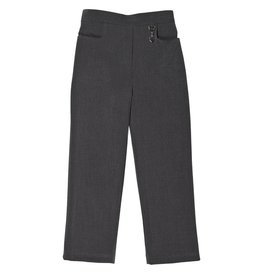 Girls Grey Trouser with Half Elastic Waist