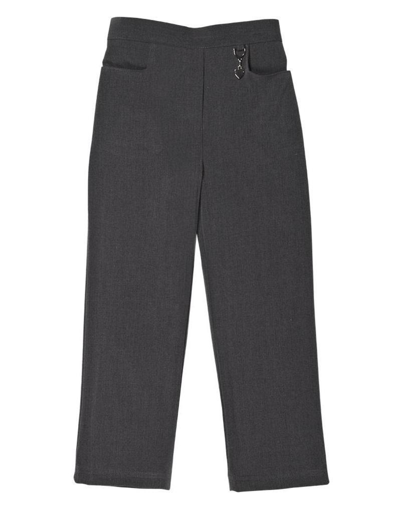 Girls Grey Trouser with Half Elastic Waist