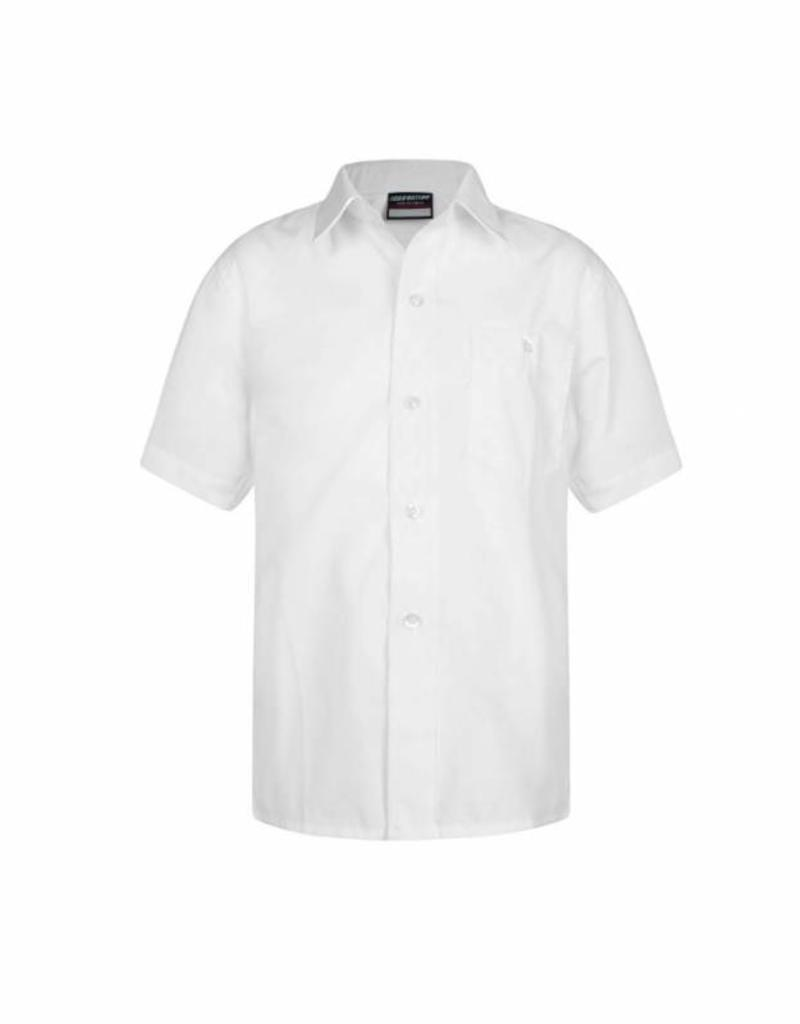 Boys Short Sleeve Shirts Twin Pack White
