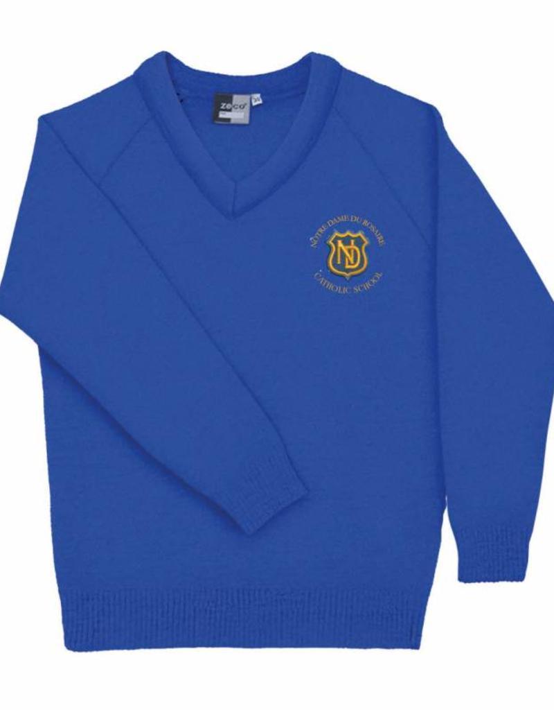 Notre Dame Primary V Neck Jumper