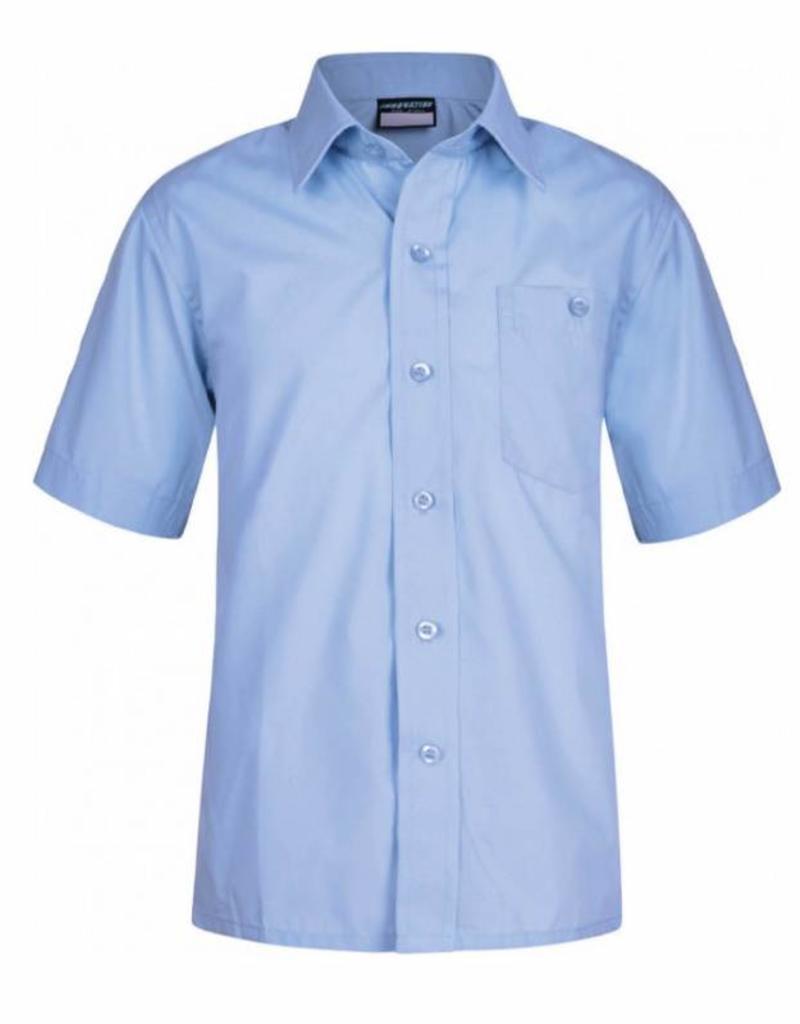 Boys Sky Blue Short Sleeve Shirt Twin Pack