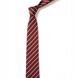 Grammar School Striped Tie Maroon and White