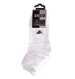 Girls White Turnover Socks (3 Pack)