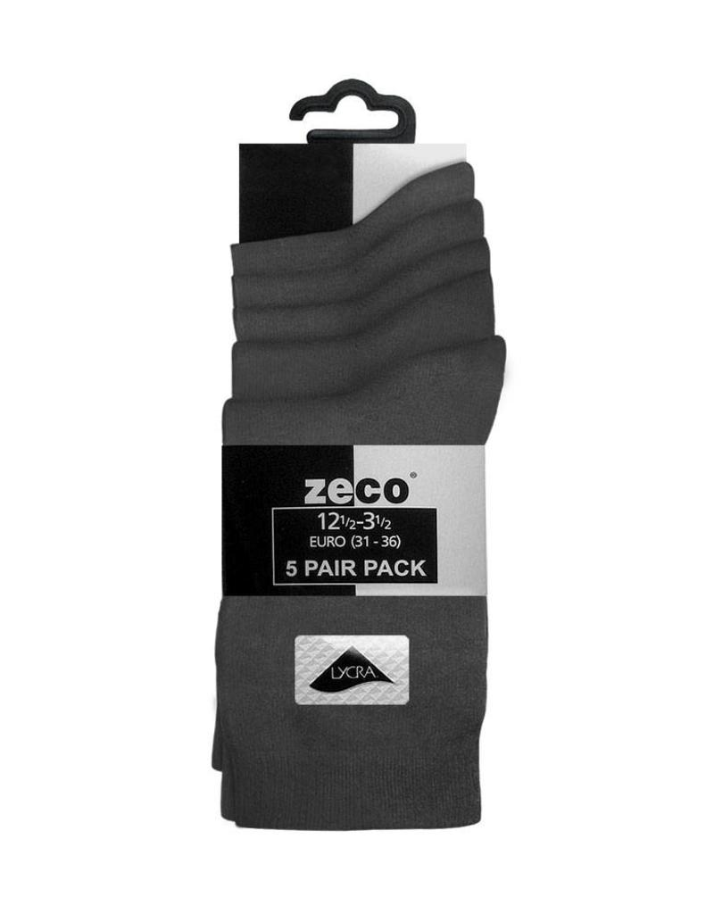 Grey Smooth Knit Ankle Socks (5 Pack)