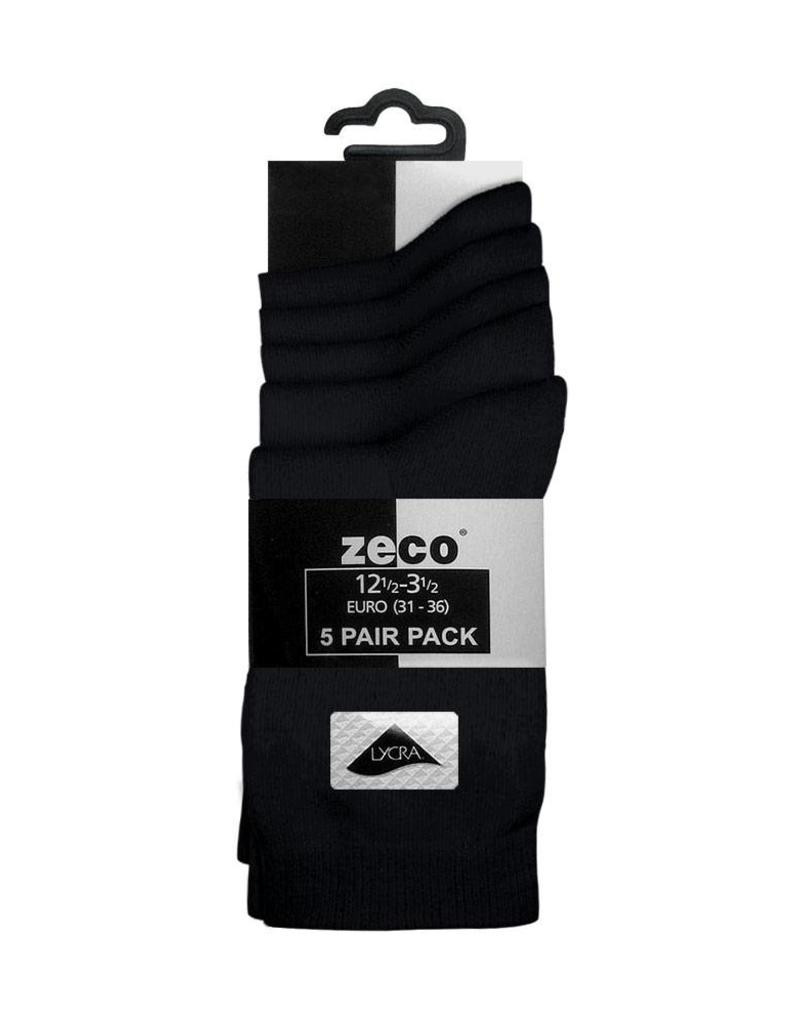 Black Smooth Knit Ankle Socks (5 pairs per pack)