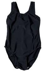 Girls Black Elastane Swimming Costume