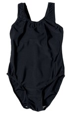 zeco/innovation Girls Black Elastane Swimming Costume