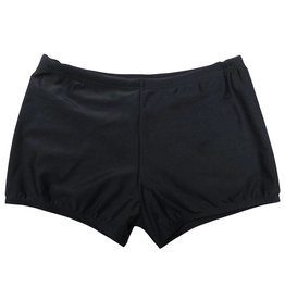 Black Elastane Swimming Trunks