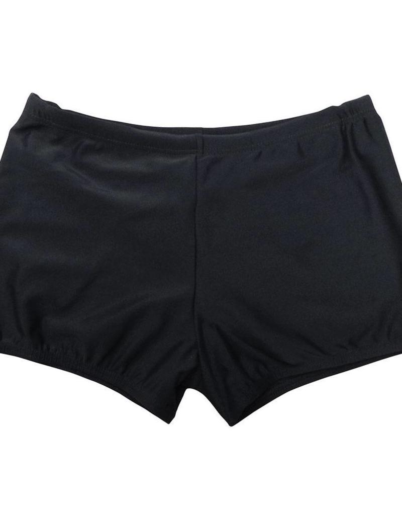 Black Elastane Swimming Trunks