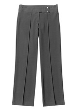 Girls Grey Two Button Slim Fit Trouser