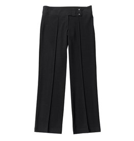 Girls Black Two Button Slim Fit Trouser
