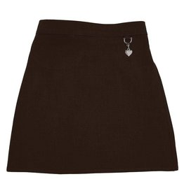 Brown Lycra skirt with heart detail
