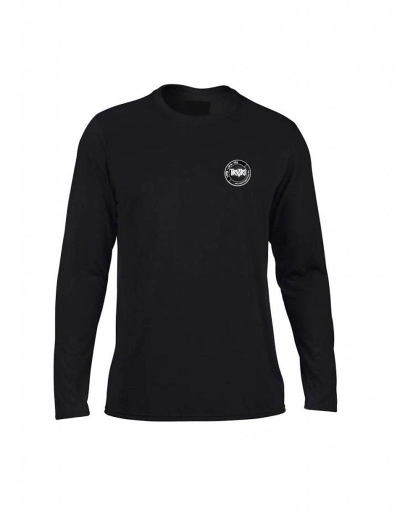 Mens Jet Black Long Sleeve Performance T with Neoteric Fabric