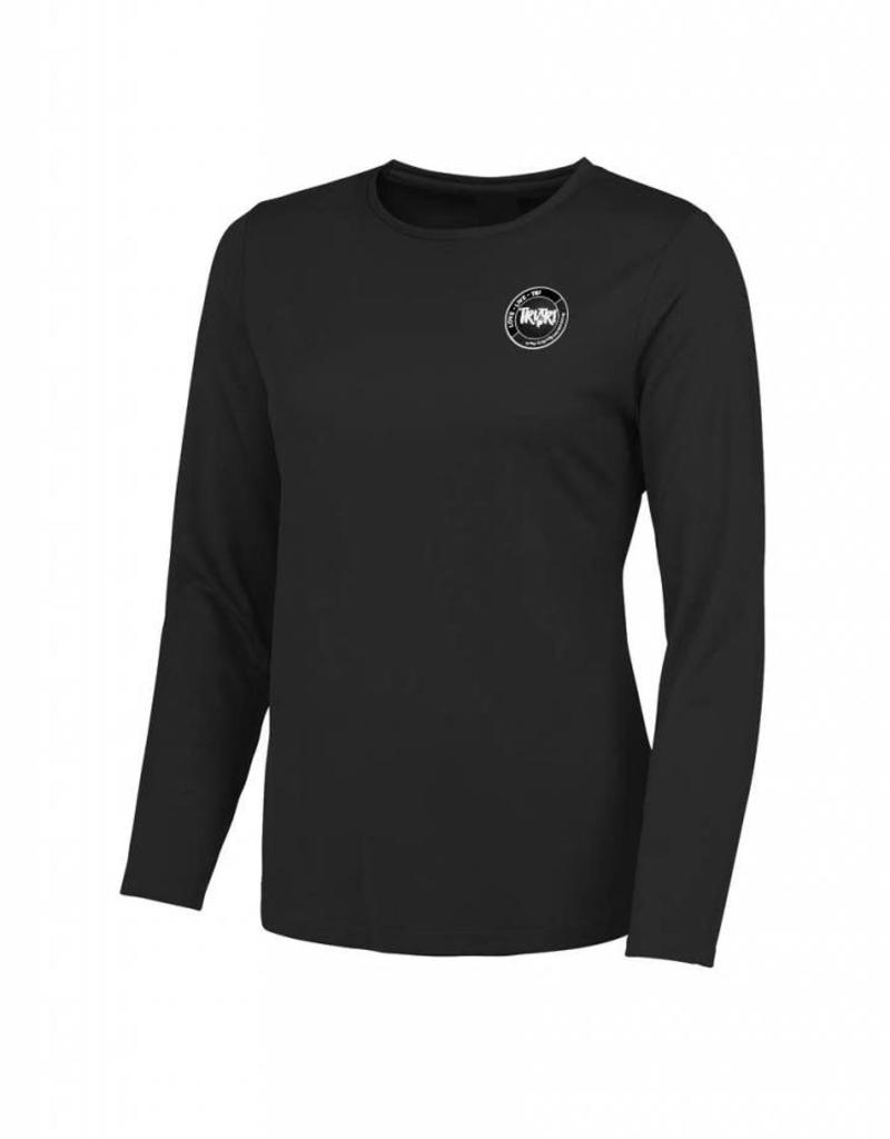 Ladies Jet Black Long Sleeve