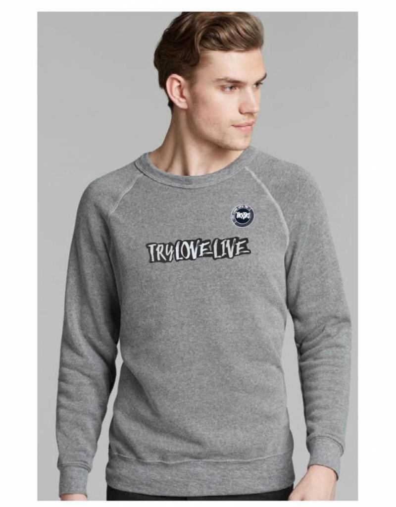 'Try Love Live' Vintage Inspired Unisex Sweat Jumper