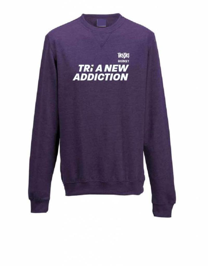 Men's fitted 'Tri A New Addiction' Sweat