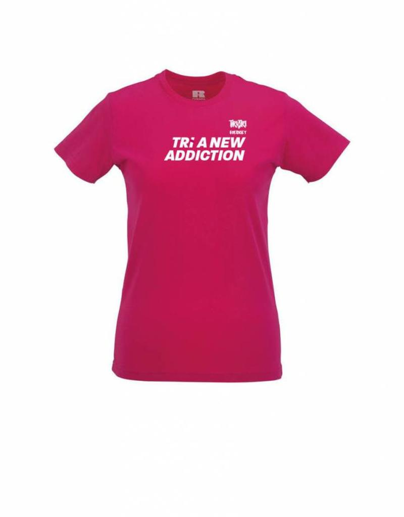 Ladies 'Tri A New Addiction' Slim T