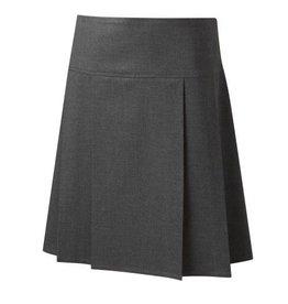 Drop Waist Pleat Skirt Grey