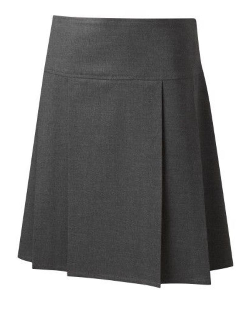 Drop Waist Pleat Skirt Grey